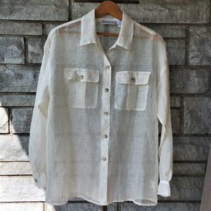Breathable Linen Button-Up